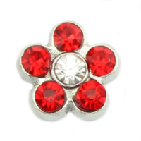 Red Crystal Flower Charm