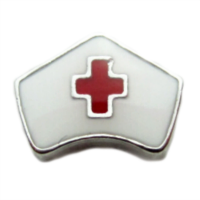 Nurse Cap with Red Cross Charm