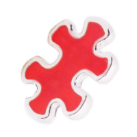 Red Puzzle Piece Charm