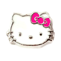 White & Pink Hello Kitty Charm