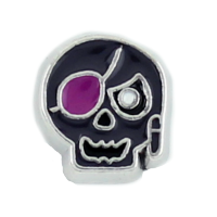 Black Skull Pirate Charm