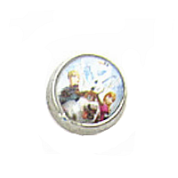 Frozen Dome - Prince Hans, Anna & Olaf Charm
