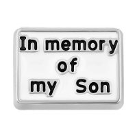 In Memory of My Son Charm