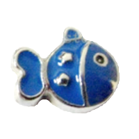 Cute fish - Silver & Blue