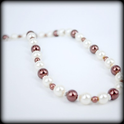 Gorgeous Chocolate & Cream Pearl Necklace